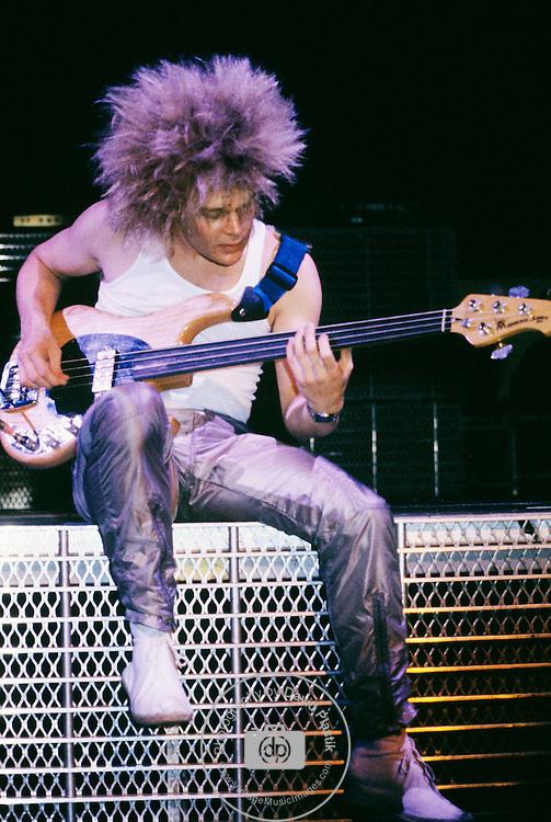 Tony Franklin of The Firm performing in New York City.<br />May, 1985.<br />© David Plastik / Retna Ltd.