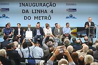 RIO DE JANEIRO, RJ, 30.07.2016 - METRO-RJ - O presidente da República Michel Temer durante inauguração da Linha 4 do Metrô (Barra da Tijuca-Ipanema). Composto por cinco estações (Nossa Senhora da Paz, Jardim de Alah, Antero de Quental, São Conrado e Jardim Oceânico), o novo trecho é um dos principais legados de mobilidade para os Jogos Olímpicos e Paralímpicos Rio 2016. A nova linha tem capacidade para transportar 300 mil pessoas por dia, retirando das ruas cerca de 2 mil veículos por hora/pico. A cerimonia acontece na estação Jardim Oceânico na Barra da Tijuca no Rio de Janeiro, neste sábado, 30. (Foto: William Volcov/Brazil Photo Press)