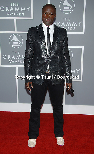 Seal arriving at the 49th Annual Grammy's  at the Staples Center in Los Angeles. February 11, 2007.<br /> <br /> eye contact<br /> full lenght<br /> smile