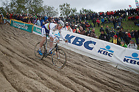 Superprestige Zonhoven 2013<br /> <br /> Mike Teunissen (NLD) mastering The Pit