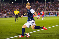 United States midfielder Brek Shea (23). The United States defeated Costa Rica 1-0 during a CONCACAF Gold Cup group B match at Rentschler Field in East Hartford, CT, on July 16, 2013.