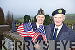COMMEMORATION: Retired major in the US army, Rico Stein, and Liam Lynch of the ONE retired army officials group, who are organised a commemoration of the ten former US military men who are buried in Knocknane graveyard in Knocknagoshel.
