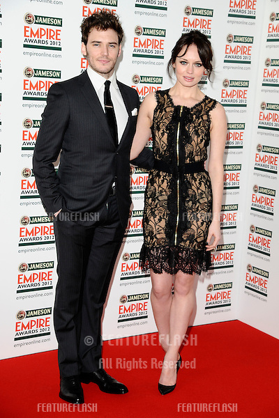 Sam Claffin and Laura Haddock arriving for the Empire Film Awards 2012 at the Grosvenor House Hotel, London. 25/03/2012 Picture by: Steve Vas / Featureflash