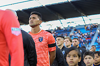 SAN JOSE, CA - AUGUST 03: Daniel Vega  during a Major League Soccer (MLS) match between the San Jose Earthquakes and the Columbus Crew on August 03, 2019 at Avaya Stadium in San Jose, California.