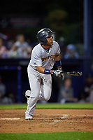 Trenton Thunder Wendell Rijo (7) bats during an Eastern League game against the Reading Fightin Phils on August 16, 2019 at FirstEnergy Stadium in Reading, Pennsylvania.  Trenton defeated Reading 7-5.  (Mike Janes/Four Seam Images)