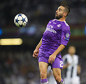 June 3rd 2017, National Stadium of Wales , Wales; UEFA Champions League Final, Juventus FC versus Real Madrid; Dani Carvajal of Real Madrid brings down a high ball on his chest