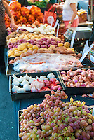 Farm-fresh produce fresh fruits, vegetables, Grapes, Garlic, Potatoes, Oranges