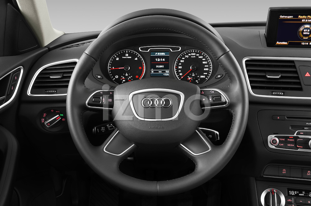 Steering wheel view of a 2012 Audi Q3 SUV