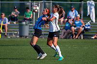Kansas City, MO - Sunday September 3, 2017: Shea Groom, Erica Skroski during a regular season National Women's Soccer League (NWSL) match between FC Kansas City and Sky Blue FC at Children's Mercy Victory Field.