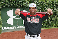 August 7, 2009:  Outfielder Chevez Clarke (8) of the Baseball Factory team during the Under Armour All-America event at Wrigley Field in Chicago, IL.  Photo By Mike Janes/Four Seam Images