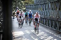 Later race winner Dries de Bondt (BEL/Corendon Circus) leading the breakaway group.<br /> <br />  23th Memorial Rik Van Steenbergen 2019<br /> One Day Race: Beerse > Arendonk 208km (UCI 1.1)<br /> ©kramon