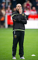 Northampton Saints' Director of Rugby Jim Mallinder during the pre match warm up <br /> <br /> Photographer Ashley Western/CameraSport<br /> <br /> Aviva Premiership - Gloucester v Northampton Saints - Saturday 7th October 2017 - Kingsholm Stadium - Gloucester<br /> <br /> World Copyright &copy; 2017 CameraSport. All rights reserved. 43 Linden Ave. Countesthorpe. Leicester. England. LE8 5PG - Tel: +44 (0) 116 277 4147 - admin@camerasport.com - www.camerasport.com