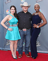 "UNIVERSAL CITY, CA, USA - APRIL 15: Audra McLaughlin, Jake Worthington, Sisaundra Lewis at NBC's ""The Voice"" Season 6 Top 12 Red Carpet Event held at Universal CityWalk on April 15, 2014 in Universal City, California, United States. (Photo by Xavier Collin/Celebrity Monitor)"