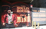 "Billboard of Danny Burstein for ""Moulin Rouge!"" The Broadway Musical at the Al Hirschfeld Theatre on July 9, 2019 in New York City."
