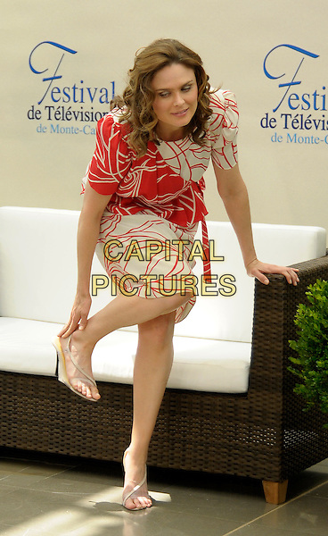Was specially Emily deschanel feet and legs consider, what