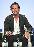 """BEVERLY HILLS - AUGUST 1: Walton Goggins onstage during the """"The Unicorn"""" panel at the CBS portion of the Summer 2019 TCA Press Tour at the Beverly Hilton on August 1, 2019 in Los Angeles, California. (Photo by Frank Micelotta/PictureGroup)"""