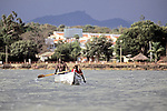 Two Men Boating, Lake Victoria