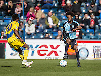 Sido Jombati of Wycombe Wanderers during the Sky Bet League 2 match between Wycombe Wanderers and Accrington Stanley at Adams Park, High Wycombe, England on the 30th April 2016. Photo by Liam McAvoy / PRiME Media Images.