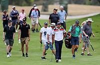 Denzel Ieremia walks down the 18th Fairway. Charles Tour, Christies Mt Maunganui Open, Mt Maunganui Golf Club, Tauranga, New Zealand. Sunday 15 December 2019. Photo: Simon Watts/www.bwmedia.co.nz/NZGolf