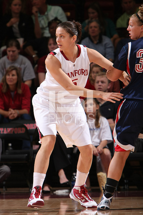 STANFORD, CA - NOVEMBER 29:  Michelle Harrison of the Stanford Cardinal during Stanford's 105-74 win over the Gonzaga Bulldogs on November 29, 2009 at Maples Pavilion in Stanford, California.