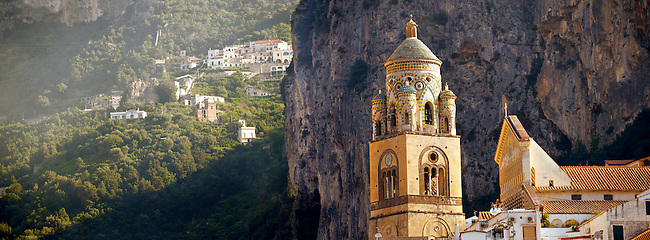 Bell tower of Amalfi Cathedral, Italy