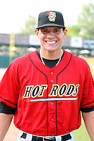 Derek Dietrich (32) of the Bowling Green Hot Rods during a game against the Kane County Cougars at Elfstrom Stadium on June 10, 2011 in Geneva, Illinois. Photo by Chris Proctor/Four Seam Images