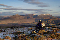 Beinn a Ghlo from the summit of Ben Vrackie at dawn, Pitlochry, Perthshire.<br /> <br /> Copyright www.scottishhorizons.co.uk/Keith Fergus 2011 All Rights Reserved