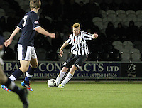 Conor Newton in the St Mirren v Dundee Clydesdale Bank Scottish Premier League Under 20 match played at St Mirren Park, Paisley on 14.1.13.
