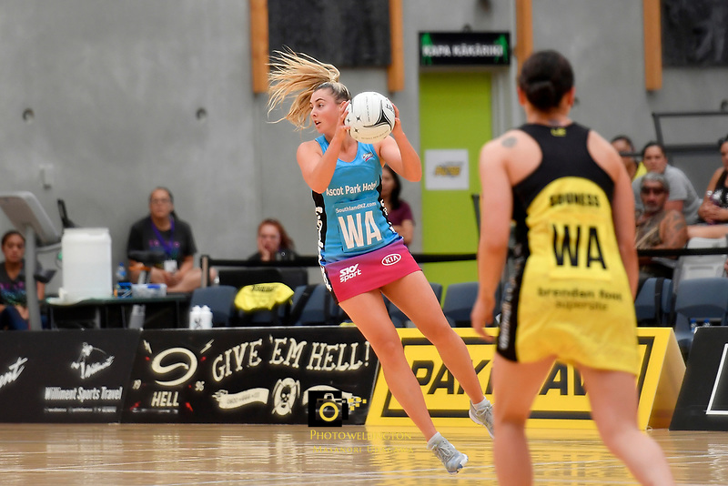Steel Gina Crampton in action during the Preseason Tournament - Pulse v Steel at Ngā Purapura, Otaki, New Zealand on Sunday 10 February  2019. <br /> Photo by Masanori Udagawa. <br /> www.photowellington.photoshelter.com