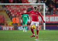 Karlan Ahearne-Grant of Charlton Athletic during the Sky Bet League 1 match between Charlton Athletic and Peterborough at The Valley, London, England on 28 November 2017. Photo by Vince  Mignott / PRiME Media Images.