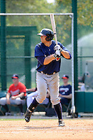 Infielder Seth Loman (84) of the Atlanta Braves farm system in a Minor League Spring Training intrasquad game on Wednesday, March 18, 2015, at the ESPN Wide World of Sports Complex in Lake Buena Vista, Florida. (Tom Priddy/Four Seam Images)