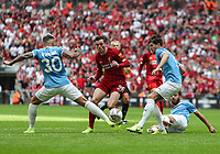 Andrew Robertson of Liverpool runs at the Manchester City defence during the FA Community Shield match between Liverpool and Manchester City at Wembley Stadium on August 4th 2019 in London, England. (Photo by John Rainford/phcimages.com)<br /> Foto PHC/Insidefoto <br /> ITALY ONLY