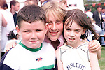 Dean Boyle, Suzanne O'Rourke and Laura Cunningham at the Moneymore Sports Day..Picture Paul Mohan Newsfile