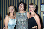 Ashling Brady, Sandra Darby and Sandra Farrell at the Louth Vinters Dinner Dance in the Europa Hotel. .Picture Paul Mohan Newsfile