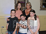 Geraldine McDowell celebrating her 40th birthday in The d hotel with her daughter Kiva, neice Nicollette McDowell and nephews Scott and Jamie McDowell. Photo:Colin Bell/pressphotos.ie