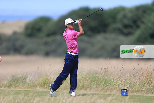 Thorbjorn OLESEN (DEN) during round one of  The 142th Open Championship Muirfield, Gullane, East Lothian, Scotland 18/7/2013<br /> Picture Eoin Clarke www.golffile.ie: