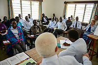 UGANDA, Arua, Radio Pacis, Team meeting