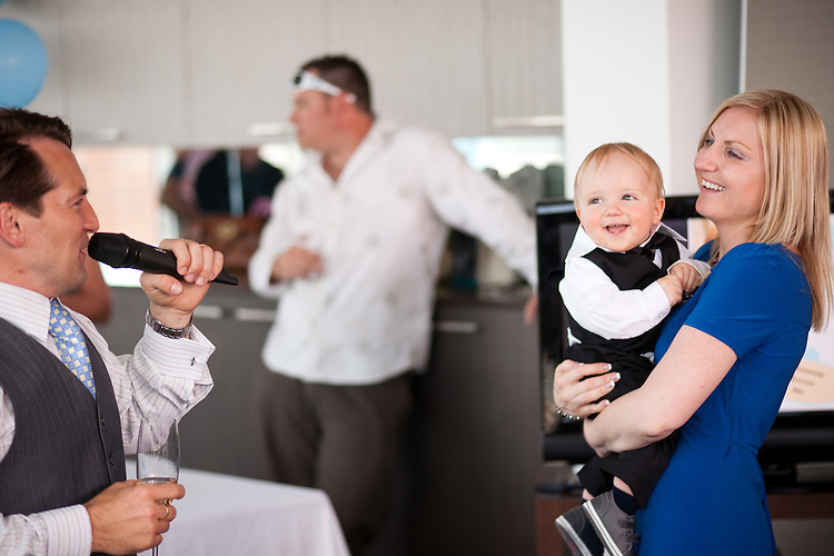 Harrison's naming day at the SkyDeck Adelaide.