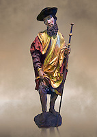 Painted wood sculpture of Saint Roch, circa 1510-1515  from Carinthie, Austria. Inv RF  4514,  The Louvre Museum, Paris.