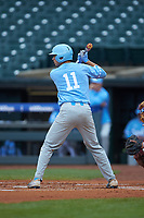 Cody Roberts (11) of the North Carolina Tar Heels at bat against the Boston College Eagles in Game Five of the 2017 ACC Baseball Championship at Louisville Slugger Field on May 25, 2017 in Louisville, Kentucky. The Tar Heels defeated the Eagles 10-0 in a game called after 7 innings by the Mercy Rule. (Brian Westerholt/Four Seam Images)