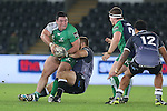 Connacht prop Dennis Buckley looks to hooker Jason Harris-Wright for support as Ospreys replacement prop Dmitri Arhip hauls him down.<br /> Guiness Pro12<br /> Ospreys v Connacht<br /> Liberty Stadium<br /> 31.10.14<br /> &copy;Steve Pope-SPORTINGWALES