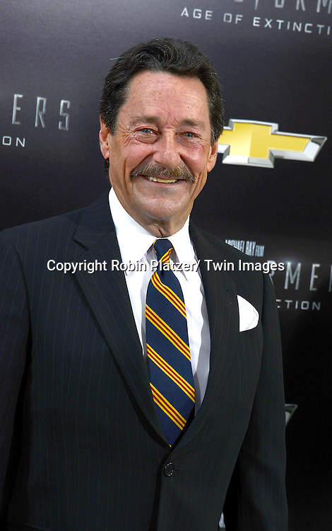 "Peter Cullen attends the US Premiere of ""Transformers: Age of Extinction"" on June 25, 2014 at The Ziegfeld Theatre in New York City, New York, USA."
