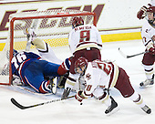 Riley Wetmore (Lowell - 16), Parker Milner (BC - 35), Barry Almeida (BC - 9), Tommy Atkinson (BC - 28) - The Boston College Eagles defeated the visiting University of Massachusetts-Lowell River Hawks 5-3 (EN) on Saturday, January 22, 2011, at Conte Forum in Chestnut Hill, Massachusetts.