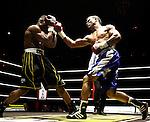 Nederland, Amsterdam, 15 oktober  2012.Seizoen 2012-2013.Ben Bril Memorial Carre Amsterdam.Innocent Anyanwu is een Nederlands bokser van Nigeriaanse komaf..verlies van Ruddy Encarnacion