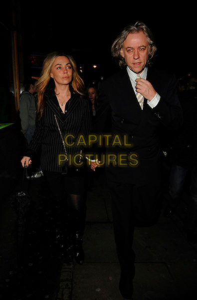 JEANNE MARINE & BOB GELDOF.At the Equus Press Night, Gielgud Theatre,.London, England, February 27th 2007..full length jean marie jeane couple.CAP/CAN.©Can Nguyen/Capital Pictures