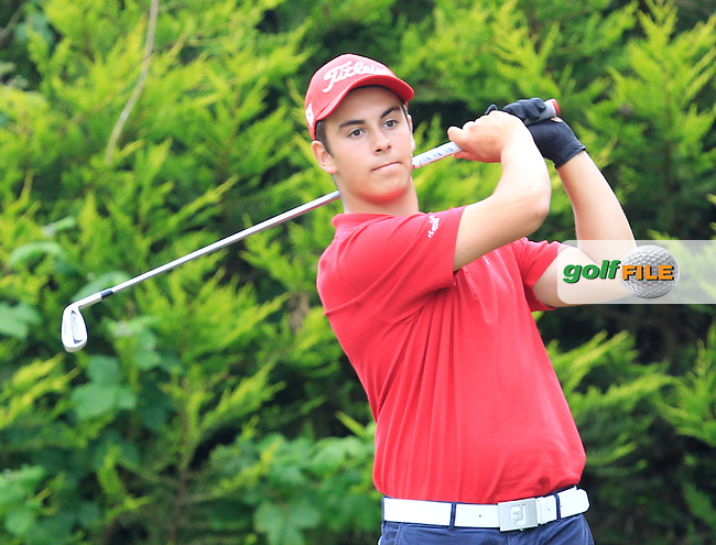 Anton Auboin (France) on the 5th tee during Round 2 of the Irish Boys Amateur Open Championship at Tuam Golf Club on Wednesday 24th June 2015.<br /> Picture:  Thos Caffrey / www.golffile.ie