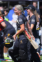 Jess Kerr after the women's Burger King Super Smash T20 cricket match between the Wellington Blaze and Canterbury Magicians at Basin Reserve in Wellington, New Zealand on Sunday, 6 January 2019. Photo: Dave Lintott / lintottphoto.co.nz