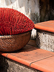 Incense sticks in a basket, Hoi An, Vietnam