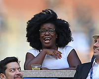 FLUSHING NY- SEPTEMBER 09: Uzo Aruba is sighted watching Madison Keys Vs. Sloane Stephens Stephens defeats Keys in straight sets 6-3, 6-0 during the Womens finals on Arthur Ashe Stadium at the US Open in the USTA Billie Jean King National Tennis Center on September 9, 2017 in Flushing Queens. <br /> CAP/MPI04<br /> &copy;MPI04/Capital Pictures