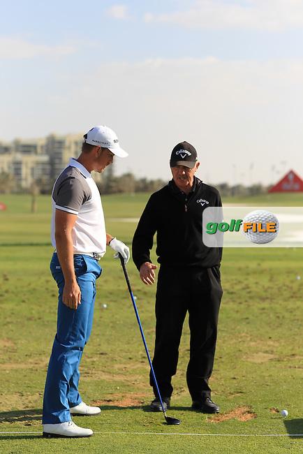 Henrick Stenson & Pete Cowan Swing sequence at the Abu Dhabi HSBC Golf Championship in the Abu Dhabi golf club, Abu Dhabi, UAE..Picture: Fran Caffrey/www.golffile.ie.